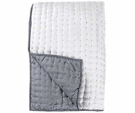 Chenevard Chalk & Graphite Reversible Silk Quilt