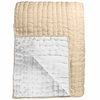 Chenevard Natural & Chalk Reversible Silk Quilt