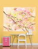 Cherry Blossom Birdies Butter Cream Mural Wall Decal