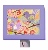 Cherry Blossom Birdies in Lavender & Coral Night Light