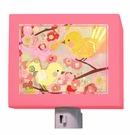 Cherry Blossom Birdies in Pink & Yellow Night Light