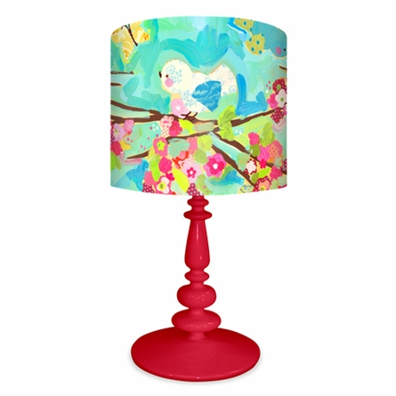 Cherry Blossom Birdies Lamp