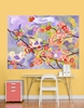 Cherry Blossom Birdies Lavender & Coral Mural Wall Decal