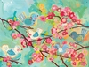 Cherry Blossom Birdies Canvas Wall Mural