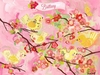 Cherry Blossom Birdies Pink Personalized Canvas Wall Art