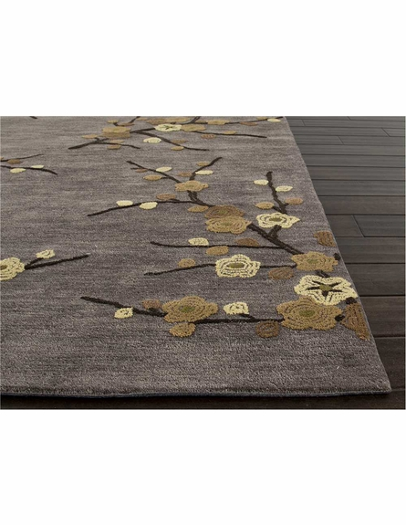Cherry Blossom Rug in Steel