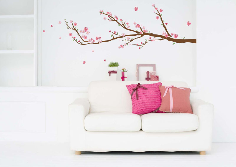 cherry blossoms wall decals rosenberryrooms com love heart blossom tree wall sticker by the binary box