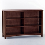 Cherry School House Horizontal Bookcase