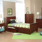 Cherry School House Sleigh Bed