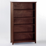 Cherry School House Tall Vertical Bookcase