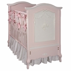 Cherubini Crib in Pink and Antico White