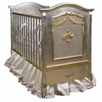Cherubini Crib in Silver Gilding and Gold Gilding