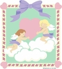 Cherubs & Roses Paint by Number Wall Mural