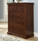 Chestnut Walnut Street 6 Drawer Chest
