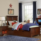 Chestnut Walnut Street Devon Panel Bed