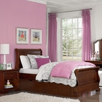 Chestnut Walnut Street Riley Sleigh Bed