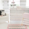 Chevron Baby Crib Bedding Set in Pink