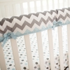 Chevron Baby Crib Rail Cover in Aqua