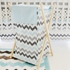 Chevron Baby Hamper in Aqua