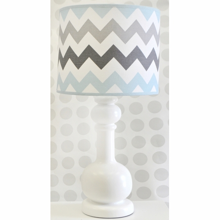 Chevron Baby Lamp in Aqua