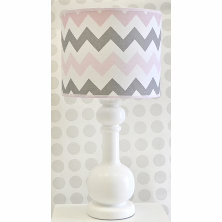 Chevron Baby Lamp in Pink