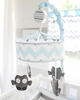 Chevron Baby Mobile in Aqua