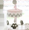 Chevron Baby Mobile in Pink