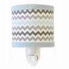 Chevron Baby Night Light in Aqua