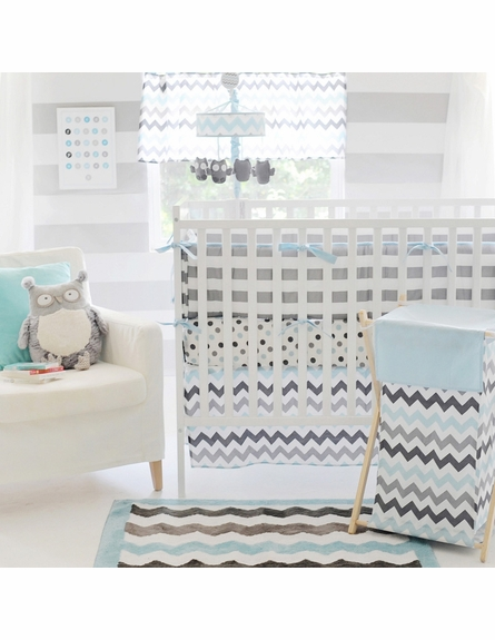 Chevron Baby Rug in Aqua