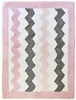 Chevron Baby Rug in Pink
