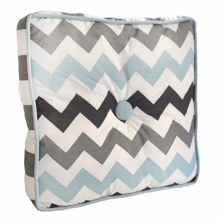 Chevron Baby Throw Pillow in Aqua