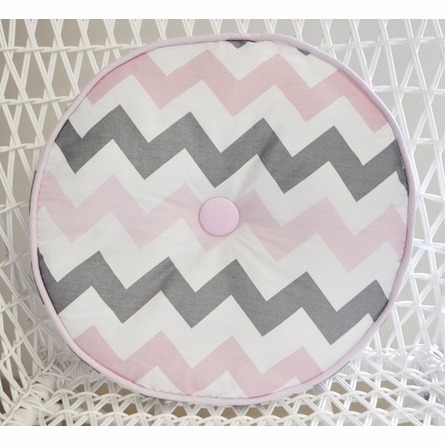 Chevron Baby Throw Pillow in Pink
