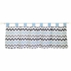 Chevron Baby Window Valance in Aqua