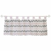 Chevron Baby Window Valance in Pink