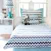 Chevron Bedding Set in Aqua