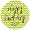 Chevron Birthday Personalized Melamine Plate