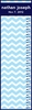Chevron Block Boy Personalized Growth Chart