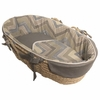 Chevron Blue Moses Basket