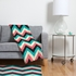 Chevron Bold Fleece Throw Blanket