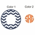 Chevron Circle Monogram Car Decal