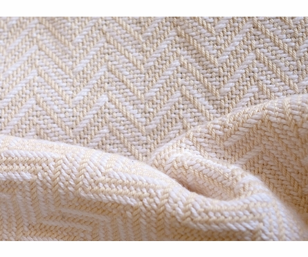 Chevron Coverlet - Natural/White