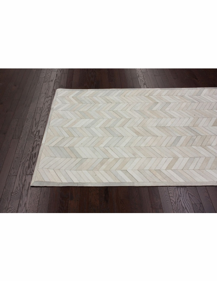 Chevron Cowhide Rug in Natural