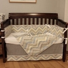 Chevron Blue Crib Bedding Set