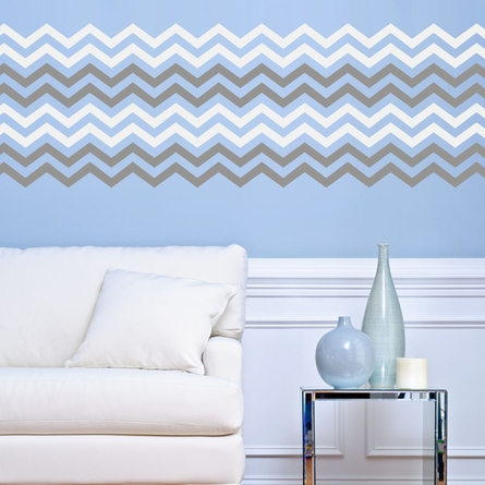 Chevron Double Color Border Wall Decal