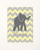 Chevron Elephants Framed Art Print