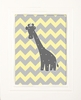 Chevron Giraffe Framed Art Print