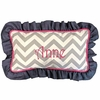 Chevron Gray and Raspberry Throw Pillow - Lumbar
