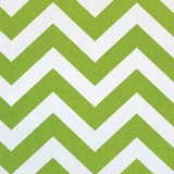 Chevron Green - Print Fabric