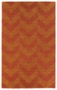 Chevron Imprints Modern Rug in Paprika