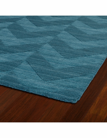 Chevron Imprints Modern Rug in Turquoise